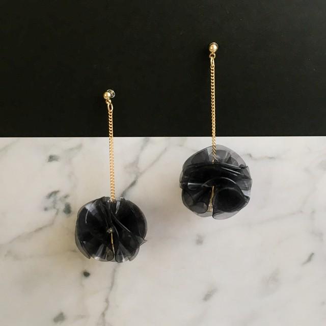 E-37 pierce樹脂/earring(black)