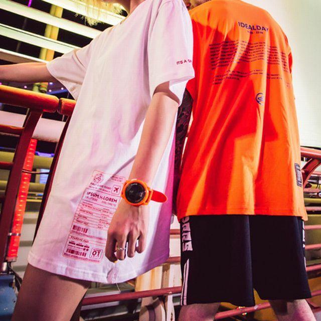 【Nuthink】 3色展開!! ビッグTシャツ(ユニセックス) メンズ レディース 原宿 韓国 / Summer plus fertilizer couple style Japanese retro tide brand short sleeve T shirt (DCT-567268826066)