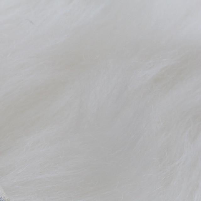 【モヘア】超ロング白 1/4ヤード long mohair (Steiff Schulte)