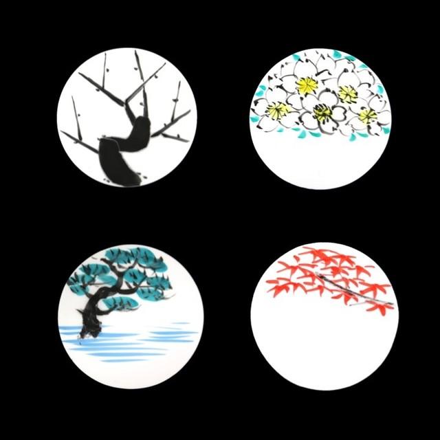 パレットセット/片面絵付・シルバーコレクション