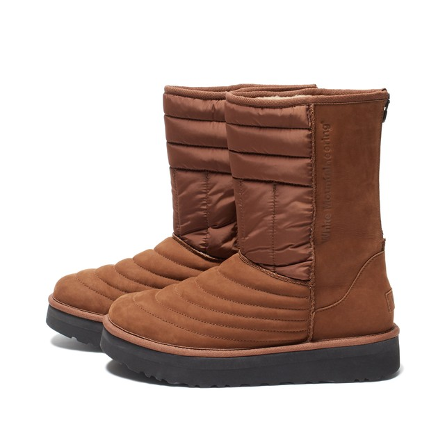 WM×UGG MOUTON QUILTED BOOTS - BROWN