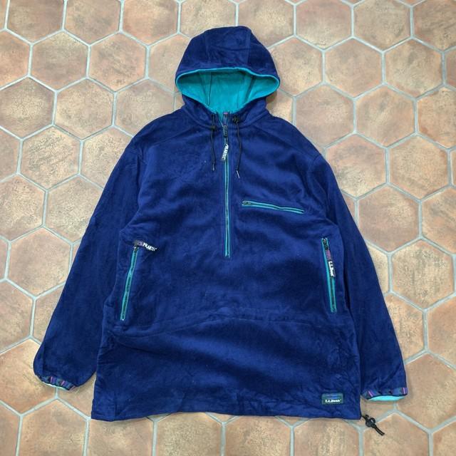 80s L.L.BEAN polartech プルオーバーフリースジャケット