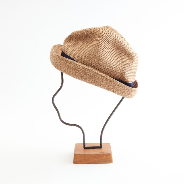 mature ha./BOXED HAT 101 mixbrown×celadon