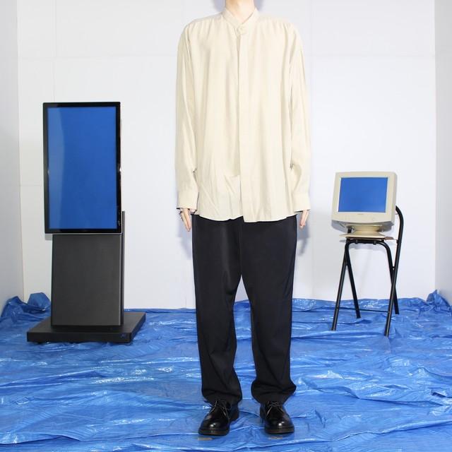 stand collar big rayon shirt