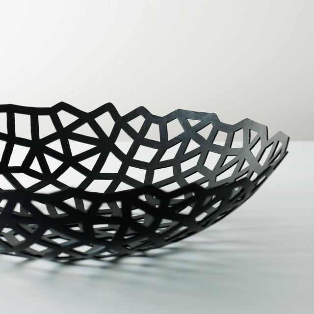 《鉄のフルーツボウル》デザイン+レーザーカット+伝統工芸士による手打ち造形|网(あみめ)