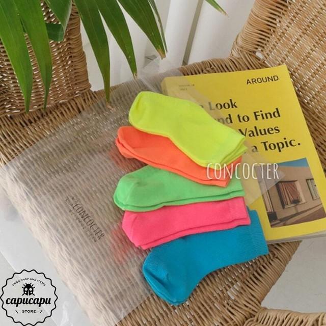 «即納»«5足セット» Neon Socks 5set ver.2 ネオン ソックス 靴下