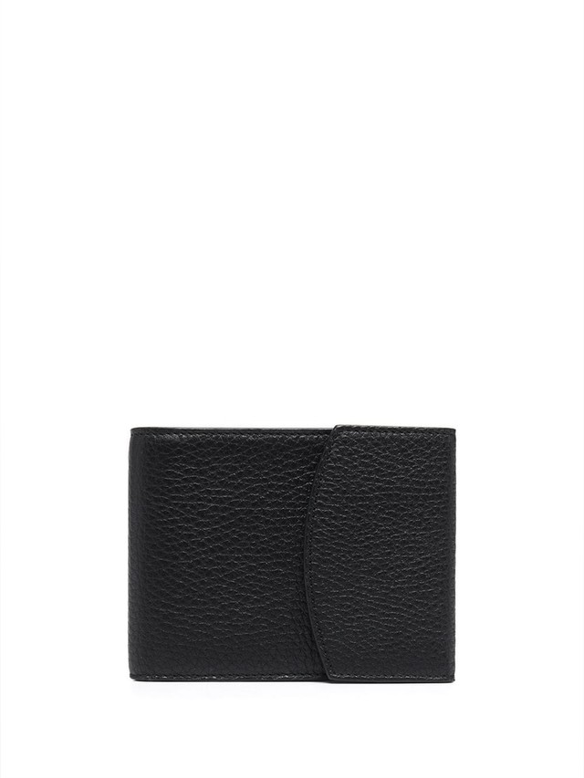 MAISON MARGIELA DEER LEATHER / VACCHETTA;B-FOLD 8 CARDS & COIN WALLET Black S55UI0294