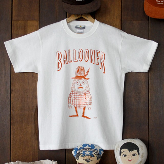 BALLOONER TEE OFF White/Orange