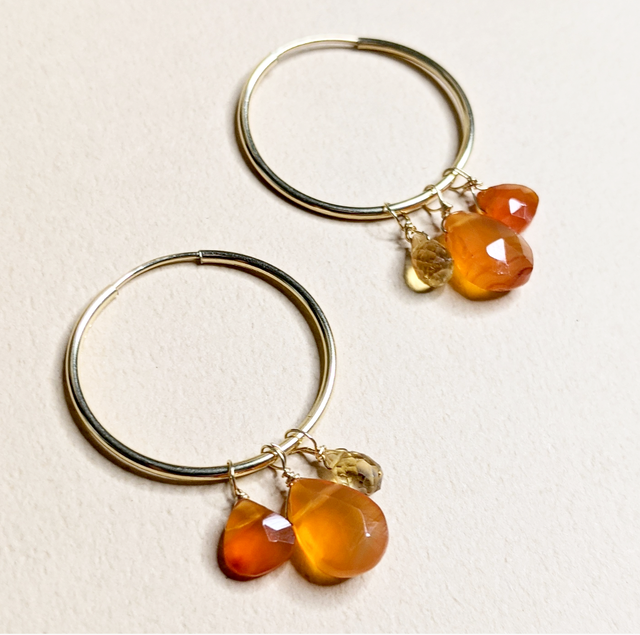 2WAY Citrine & Carnelian earrings | MIHO meets RUKUS