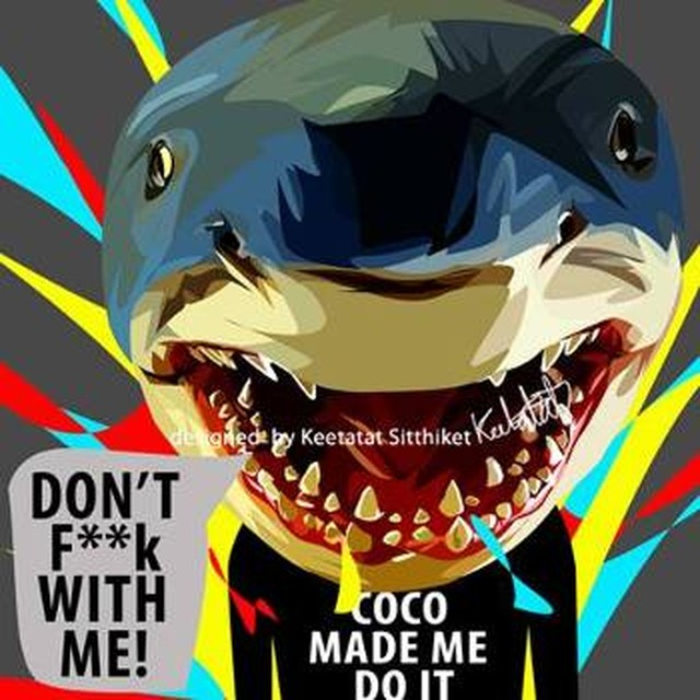 【サメ】Mサイズ26cm [PAPA_OT0041] SHARK DON'T FUCK WITH ME