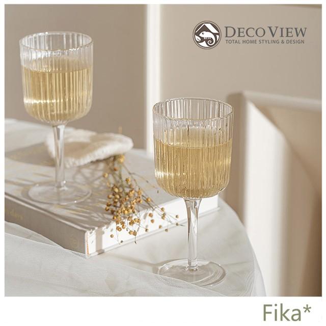 【韓国人気雑貨】DECO VIEW ヴィンテージ プリーツワイングラス 2個SET
