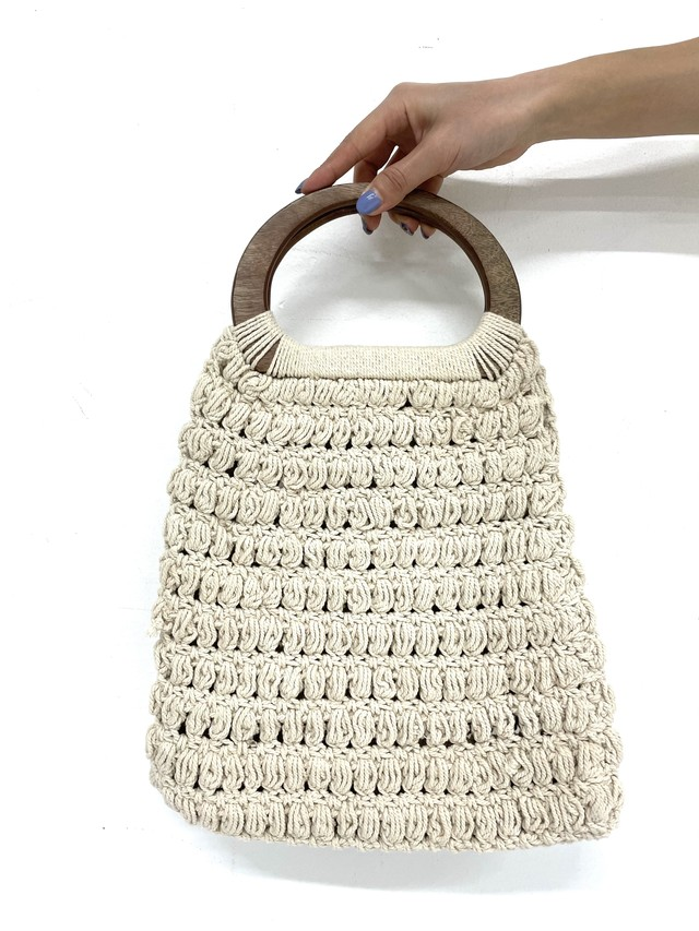 wood hand knit bag / 3SSGD07-17