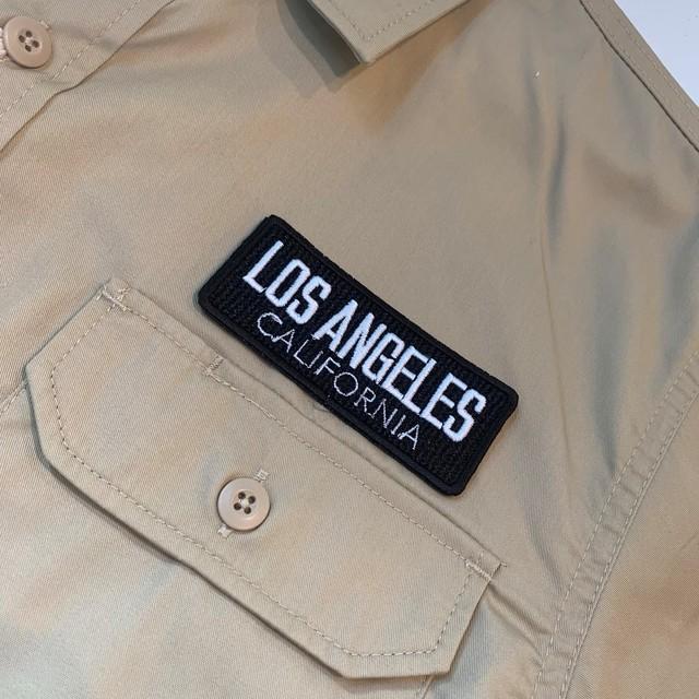 PATCHIES 【ワッペン】 LOS ANGELES CALIFORNIA ロサンゼルス カリフォルニア ワークシャツ