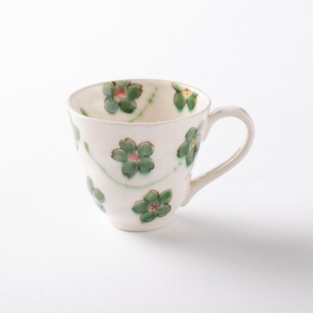【美濃焼】軽量マグカップ「花おりべ マグカップ 花散し白」