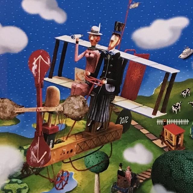 【田村 映二】複製画 夢国旅日記 「雲の間から眺める」