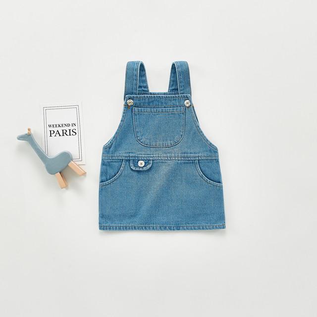 【予約】2021春  ベビー/キッズ デニム ジャンパースカート