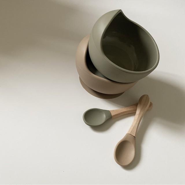 【受注】silicone bowl&spoon set シリコンボウル&スプーンセット