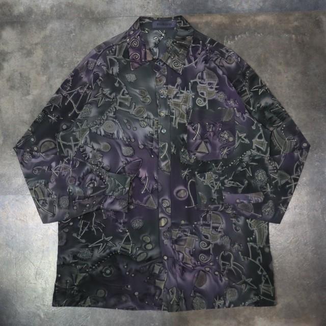 purple classical design shirt