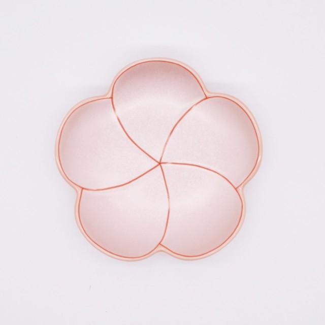 【限定1点 アウトレット品】有田焼 梅4寸 銘々皿 ピンク釉 252625 豆豆市030