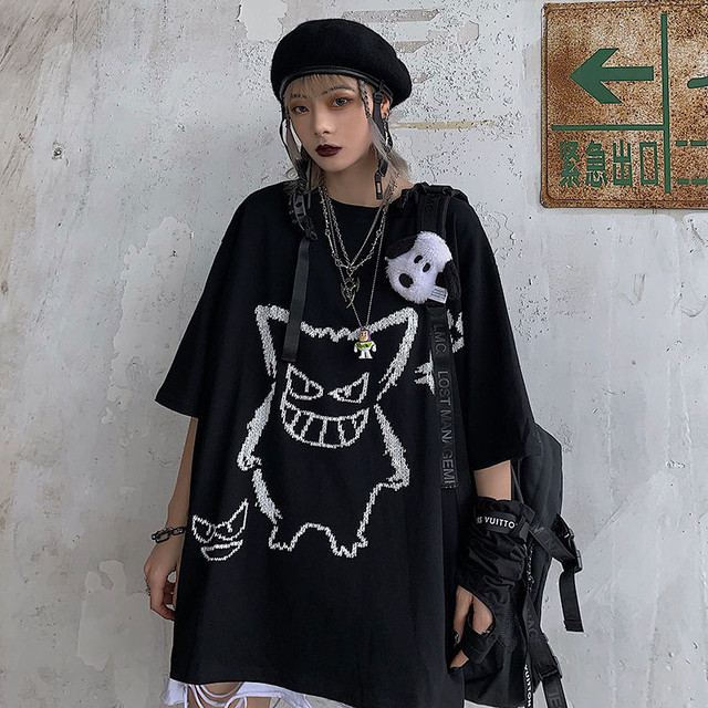 【トップス】悪魔半袖シンプルアニメ図柄ストリート系ファッションTシャツ45442815