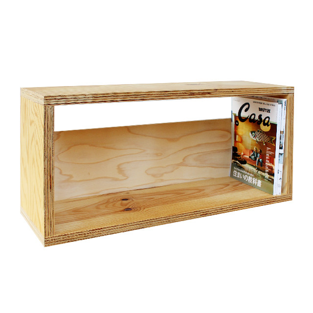 USED / Larch plywood Magazine Shelf