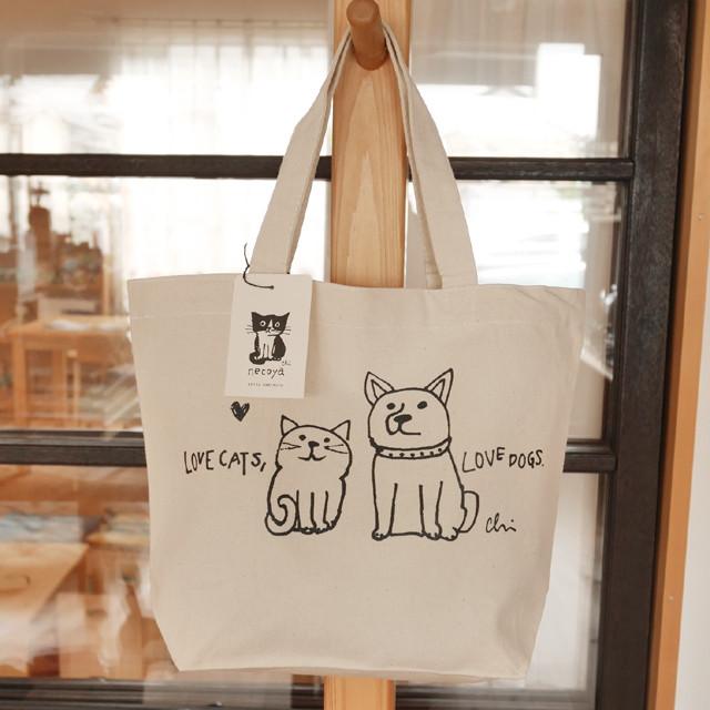 トートバッグ[Love cats, Love dogs.1]Sナチュラル