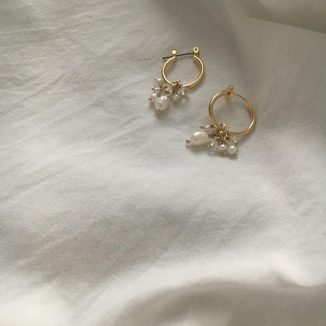 branch pearl pierce/earring