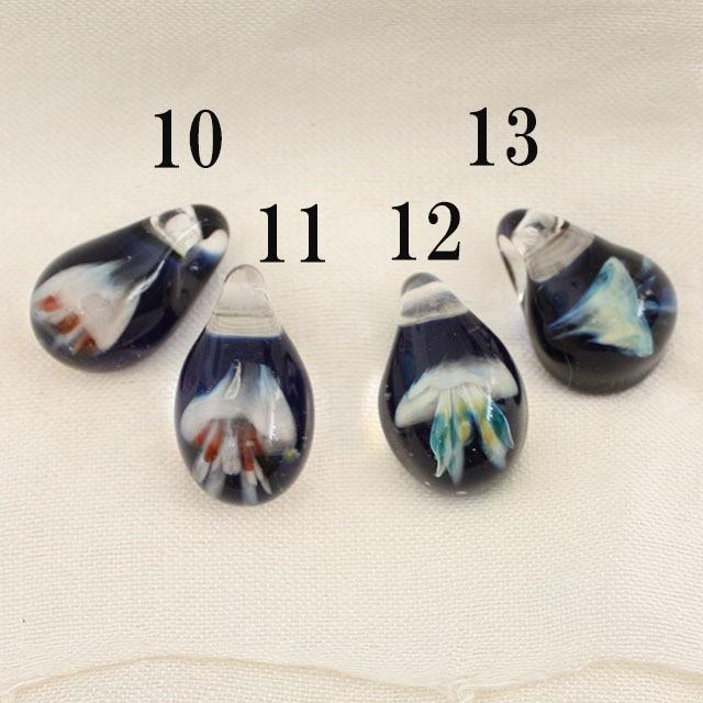 【1点もの/MAHAO/高品質】パイレックスガラスペンダント Jellyfish(1つ選んでください)