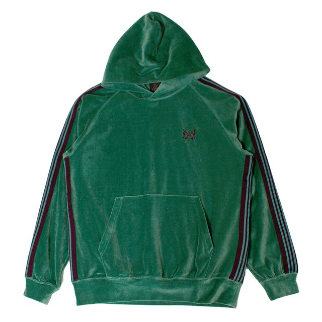 NEEDLES Velour Track Hoodie Green