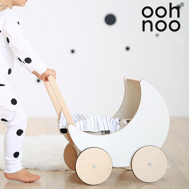 ooh noo Toy Pram White 手押し車