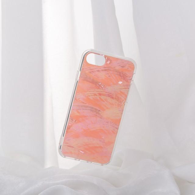 【iPhone12シリーズ/SE2対応】本物の自然シェル素材<サクラピンク>カラーデザイン(SPCa0078SPK)◆スマホケース/iPhoneケース