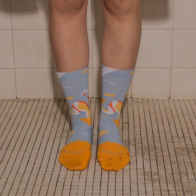 【Goodpair Socks】Fancy Footwork Run・ソックス/ライトブルー