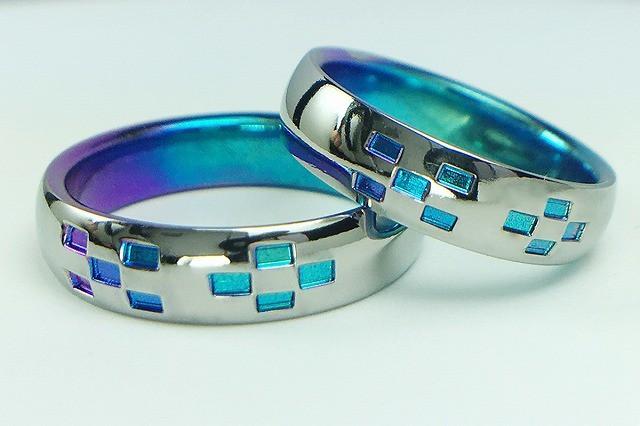 チタン結婚指輪 ミンサー type1<No7-1> 金属アレルギー対応