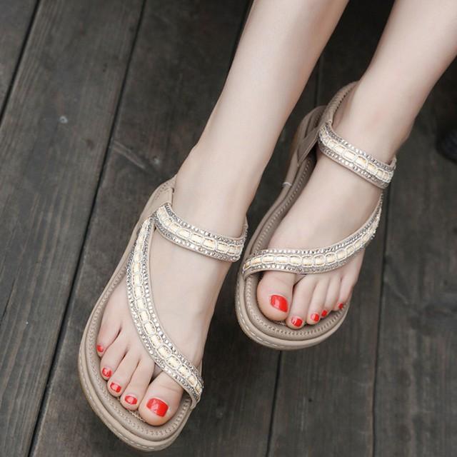 【shoes】サンダル無地シンプルファッション合わせやすい夏シューズ