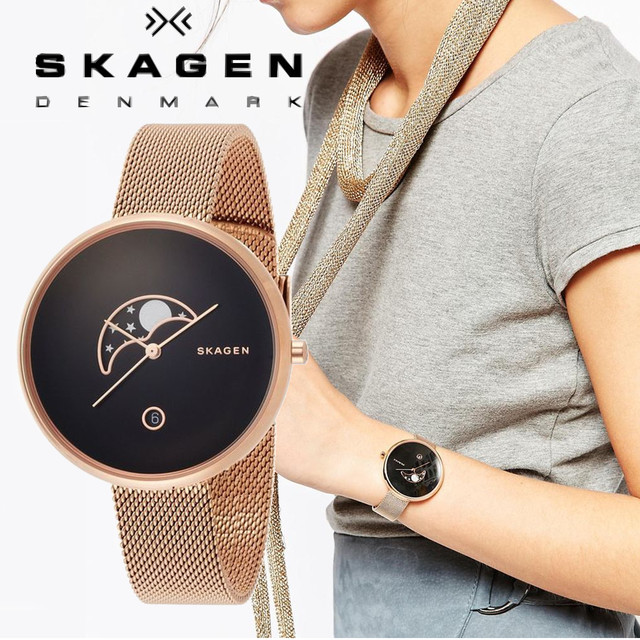 SKAGEN Gitte Moonphase レディース Watch SKW2371