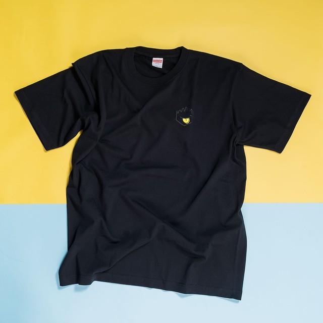 クラモトアイス バックプリントTシャツ ブラック✕イエロー