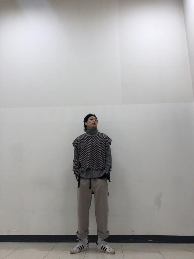 ユニットチェックニットベスト ★UNISEX  ニットベスト ベスト 韓国ファッション