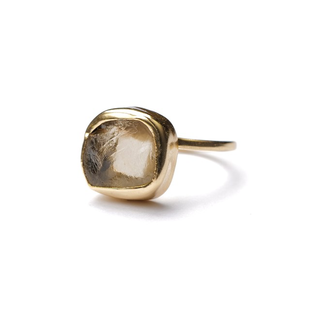 ROUGH STONE RING GOLD 029