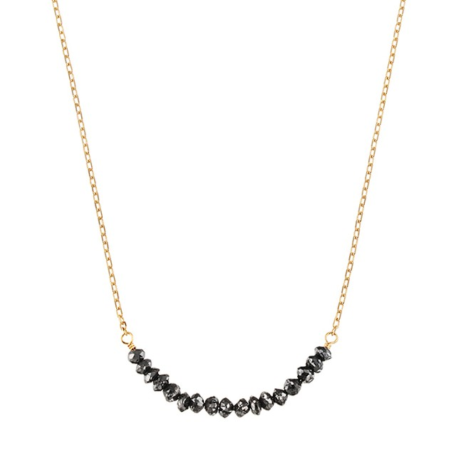 K18YGブラックダイヤモンドネックレス 020201009006