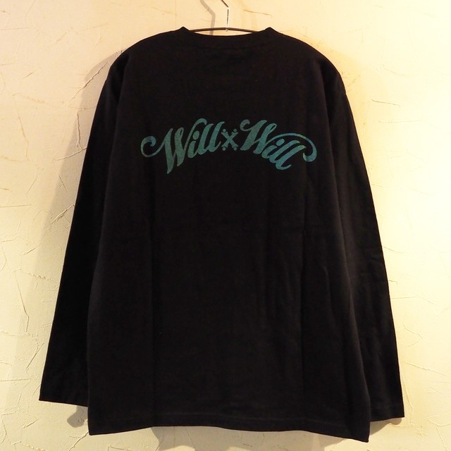 【一点物】Arch Logo Black x Mint Long sleeve L