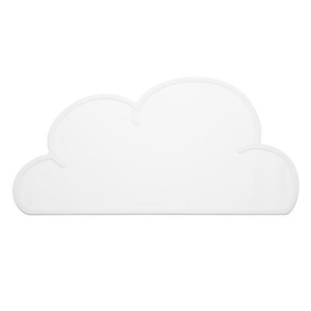 KG DESIGN(ケージーデザイン)クラウドマット ホワイト W47 x D27 x H0.3cm 雲 出産祝い シリコンマット