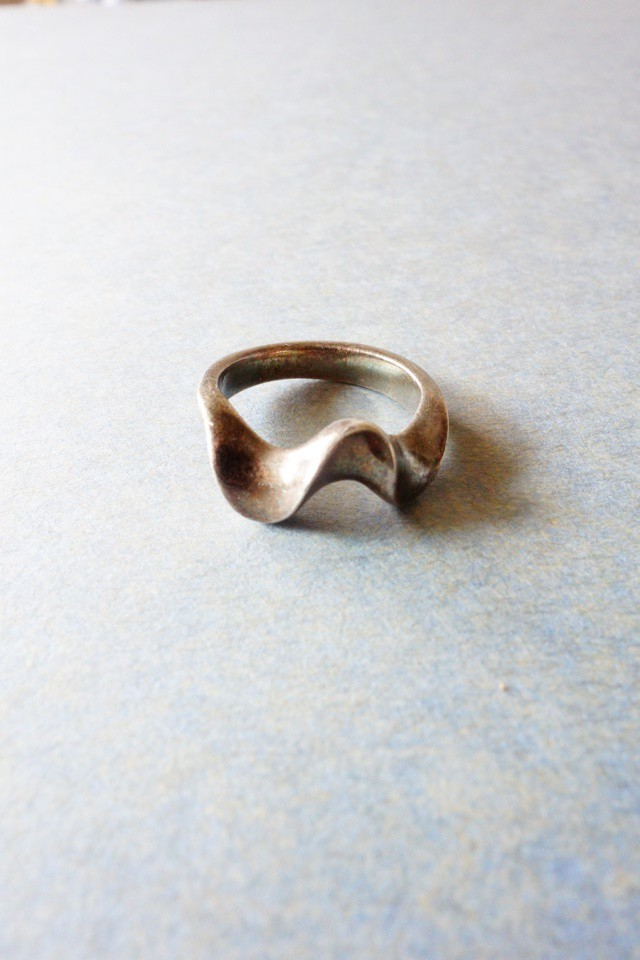 70s vintage ring silver