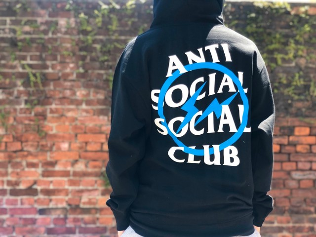ANTI SOCIAL SOCIAL CLUB × FRAGMENT ASSC BOLT HOODIE BLACK MEDIUM 80JE5979