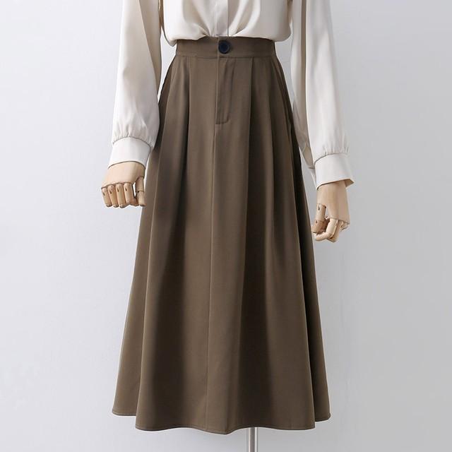 【ボトムス】組み合わせやすい 無地 ロング 全3色 スウィート  スカート44407921