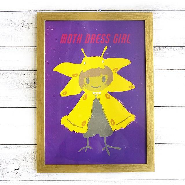 【M.O】MOTH DRESS GIRL/額入りイラスト