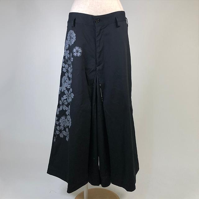 桜と芍薬プリント入り袴風パンツ/GGD24-P848