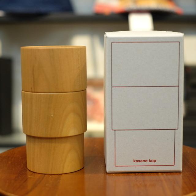 Holz 別注kasane kop(スタッキングカップ) 山桜 2個セット