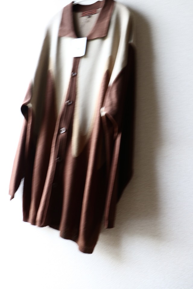 Vintage wave pattern long shirt