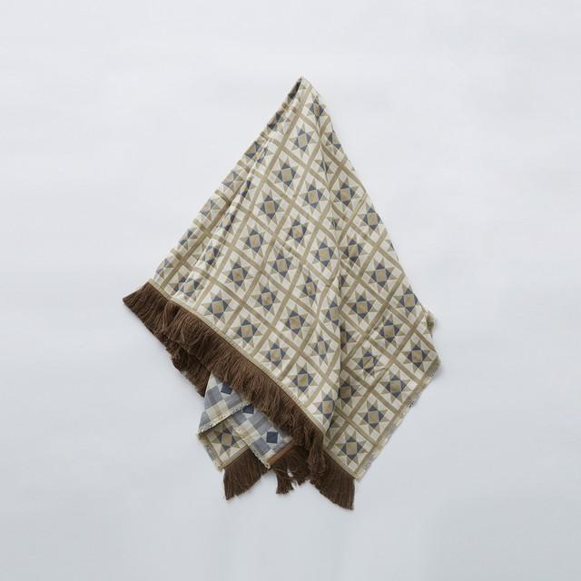 eLfinFolk Amish quilt blanket (beige)  elf-211F14