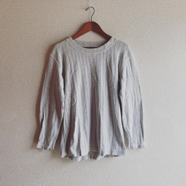 【SALE】vintage cotton rib tops
